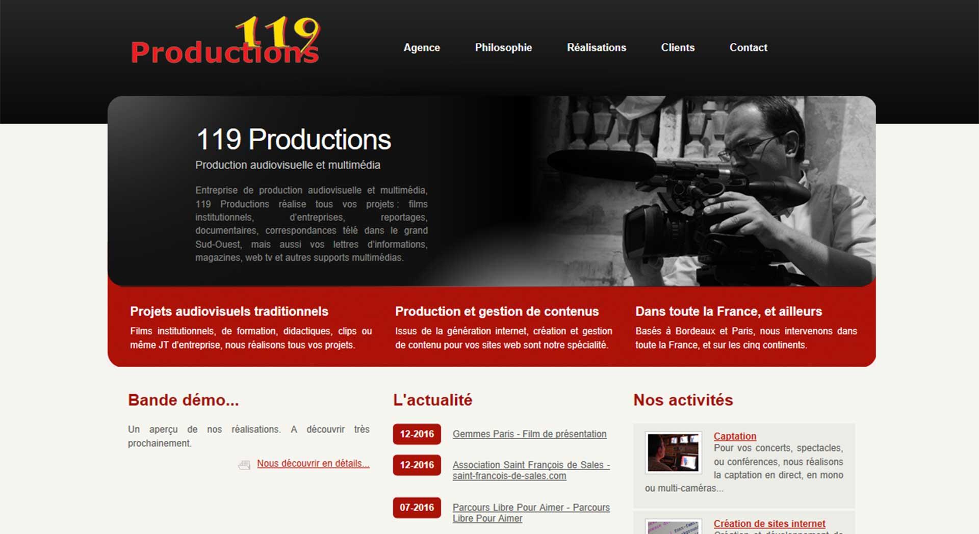 119 Productions, Nouveau Site
