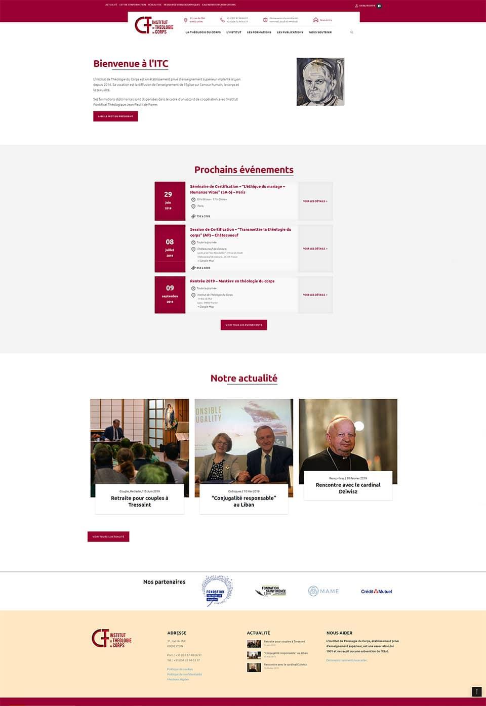 Site internet de l'Institut de Théologie du Corps