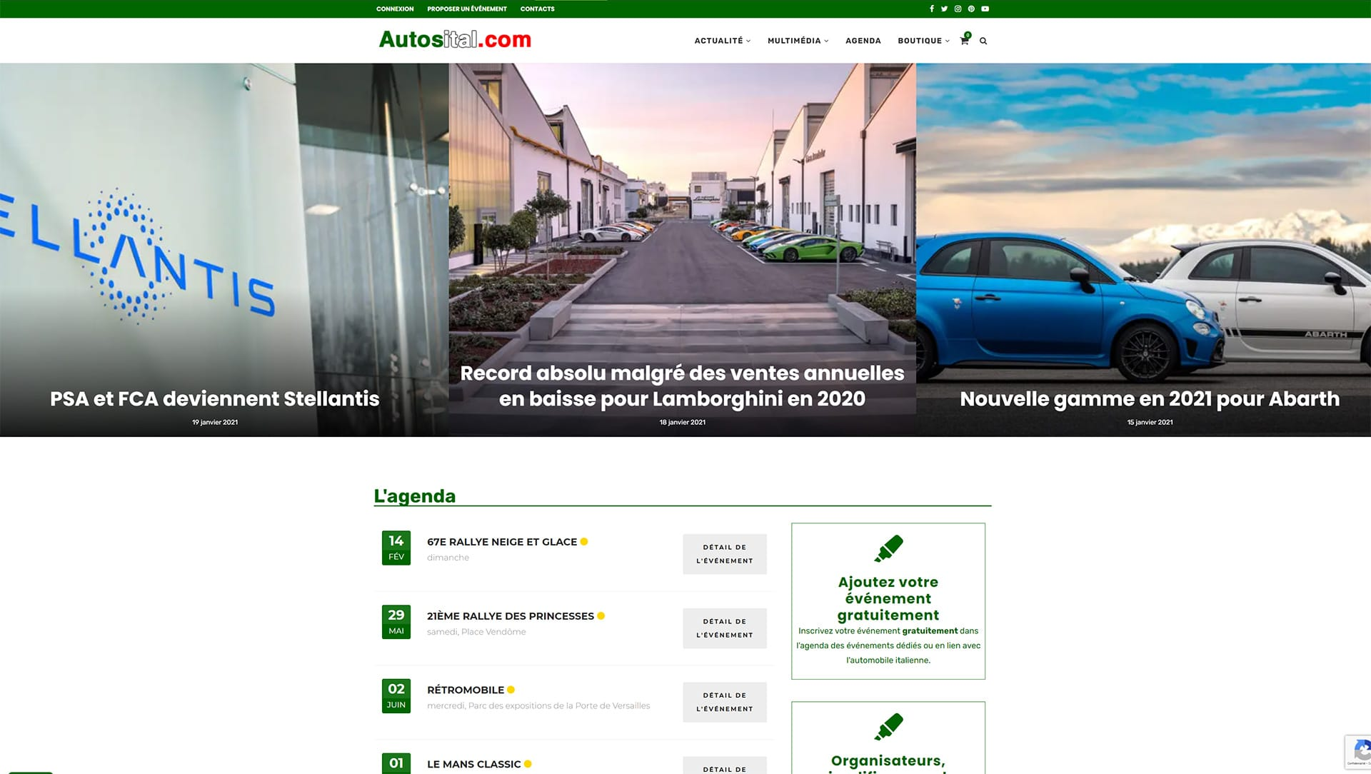 Une Autosital.com 2020